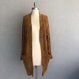 Zara size medium copper long soft open cardigan